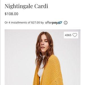 Nightingale cardigan